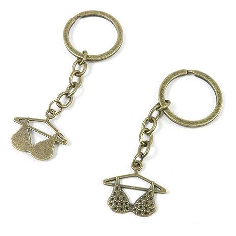 Amazon.com: Q1JL4 - Llavero de bronce envejecido con cadena ...
