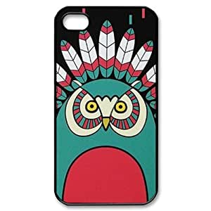 meilinF000Cute Owl Personalized Custom Phone Case For iPhone 4 4S Hard Case Cover SkinmeilinF000
