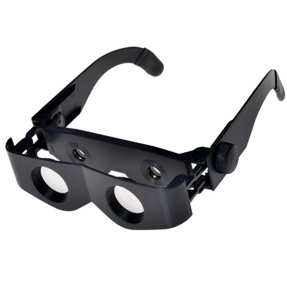 EDTara Magnification Glasses Lightweight Anti-reflection Adjustable Focusing Hands Free Adjustable Fishing Binoculars Telescope Magnification Glasses