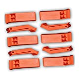 Plastic Floating Orange Whistle for Boats, Raft, Marine Emergency - 10 Pack