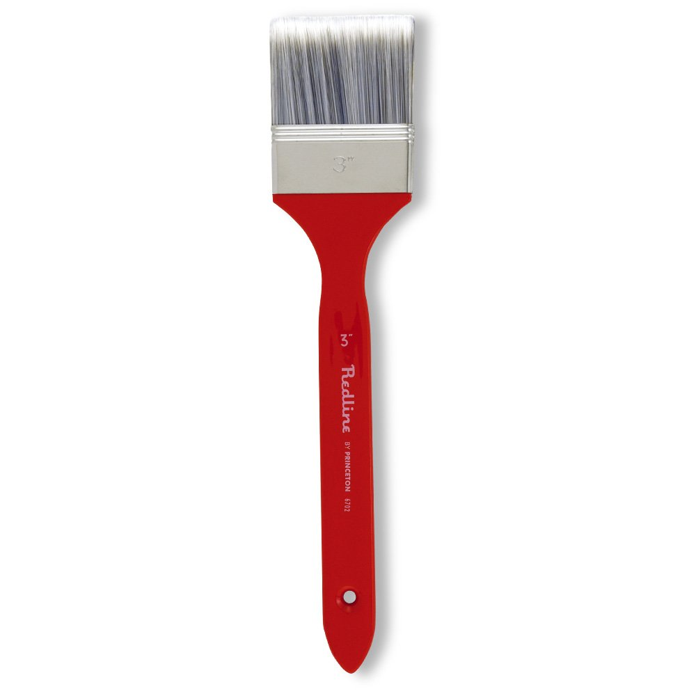 Princeton Artist Brush Redline, Brushes for Acrylic and Oil Series 6700, Angular Synthetic Blend Long Handle, Size 2 108803