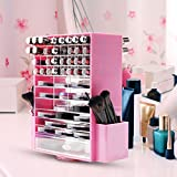 360-degree rotating makeup organizer extra large transparent household use desktop storage box shelf -B