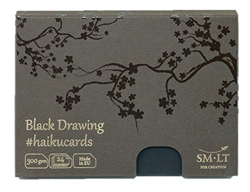 SMLT C 24 (300) Black Haiku Cards 147X106 Paper Cards 24 Cards - Black Paper Box of 300