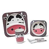 Best IkEA Kids Plates - Kids Dinnerware Set,PUQU Animal Theme Kids Bamboo Bowls Review