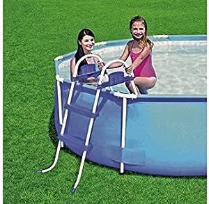 Pool Escalera para piscina Altura de 76 cm: Amazon.es: Jardín