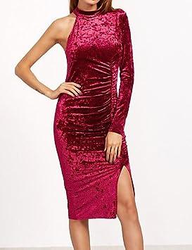 JIALE3536 Vestido Fiesta Mujer,De Fiesta La Vestimenta Femenina,La Rodilla-Longitud Cuello