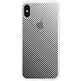 【iPhoneX/XS ケース】MONOCHROME CASE for iPhoneX iPhoneXS (Slash Stripe Black)