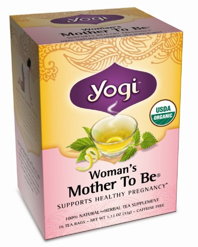 Yogi Tea Womans Mother To Be Pregnancy Support Organic Healing Formula - 16 Tea Bags, Pack of 2 (image may vary)