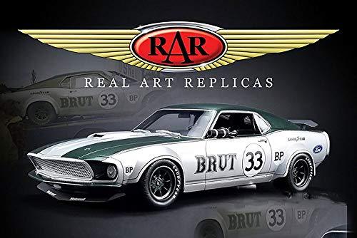 Real Art Replicas 1969 Ford Mustang Boss 302 Trans Am Hard Top, Allan Moffat #33 RAR18002 - 1/18 Scale Diecast Model Toy Car