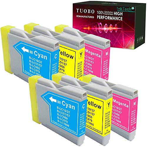 Tuobo Compatible Ink Cartridge Replacement for Brother LC51 LC 51 LC-51 to use with DCP 130C 330C 540CN MFC 230C 3360C 5460CN IntelliFax 1360 (6 Color)