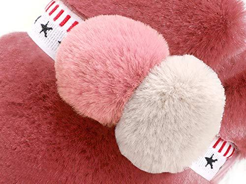 Blend Slipper Natural Pink Thicken LINENLUX Stripe 1 Cotton Indoor wq1RHEBH
