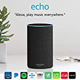 Echo (2nd Generation) - Smart speaker with Alexa - Charcoal Fabric Variant Image