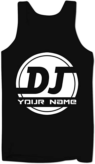 Bang Tidy Clothing Mens Graphic Tank Top Personalised DJ Logo ADD Your Name Sleeveless Tee Shirt
