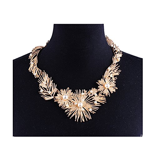 DIDa Statement Necklace for Women Chunky Necklace Gold Collar Bib Choker ()