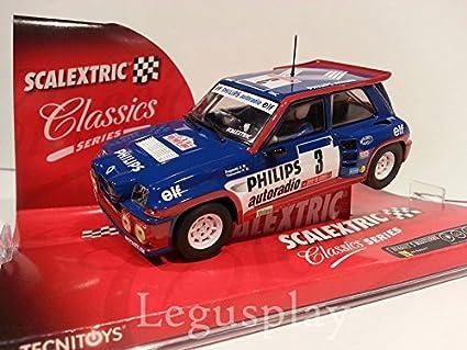 Slot SCX Scalextric 6240 Renault 5 Maxiturbo Philips Ragnotti/Thimonier Nº3