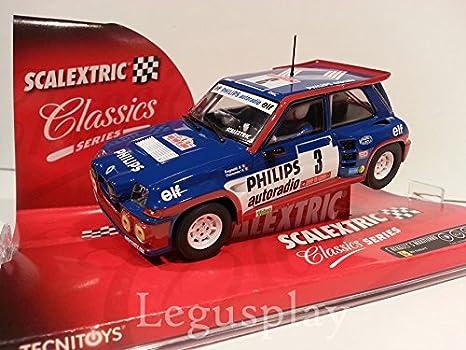 Slot SCX Scalextric 6240 Renault 5 Maxiturbo Philips Ragnotti/Thimonier Nº3: Amazon.es: Juguetes y juegos