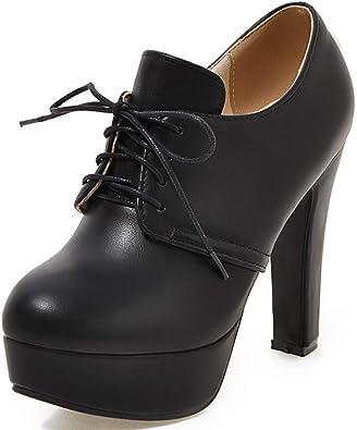 Women Lace up Oxfords Shoes Dress Pumps