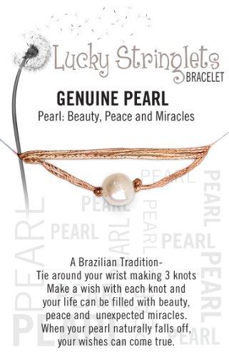 Zorbitz Stringlet, Pearl Make Hemp Bracelet