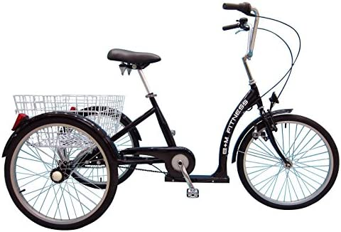 B+M Fitness - Triciclo para adultos con freno de contrapedal, 7 ...