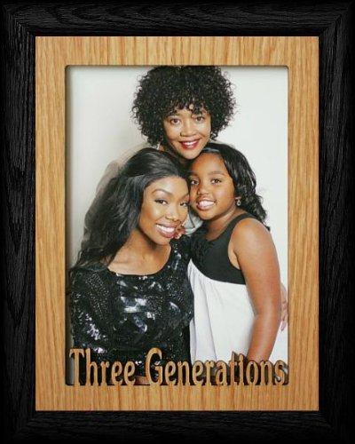Amazon.com: 5 x 7 ~ Jumbo Tres Generaciones Retrato Negro ...