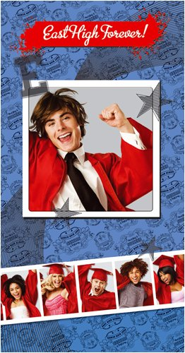 High School Musical 3 Moving Picture Hologram Birthday Card