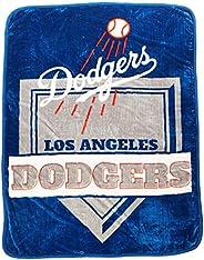 MLB Los Angeles Dodgers Royal Plush Raschel Throw, One Size, Multicolor
