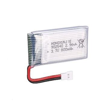 73JohnPol 5 Piezas 3.7V 800mAh batería + 5 en 1 Cargador USB para ...