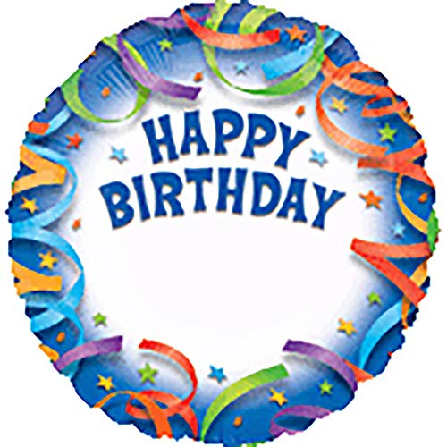 Anagram International Happy Birthday Streamer Personalized Package Balloon, 18