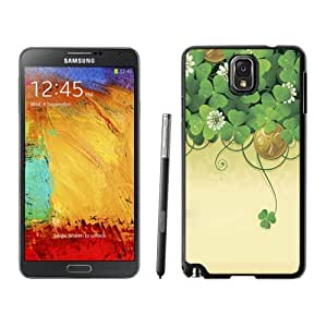 NEW Unique Custom Designed Samsung Galaxy Note 3 N900A N900V N900P N900T Phone Case With Lucky Clover Illustration_Black Phone Case