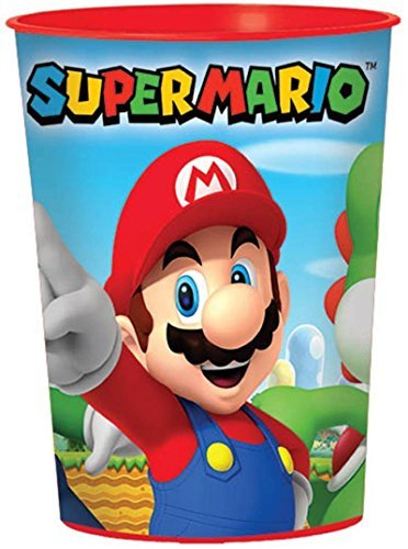 Super Mario Brothers Plastic 16oz Favor Cups (Pack of 12) by Fun Express