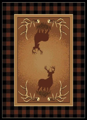 United Weavers Legends Area Rug 910-05050 Antler Buck Deer Buck 5