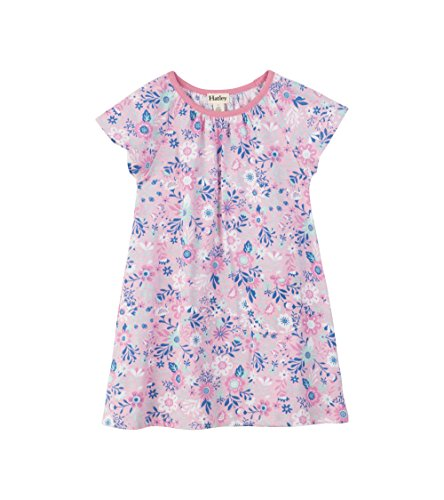 Hatley Girls' Little Tee Dress, Sandy Beach Wildflowers, 6 Years