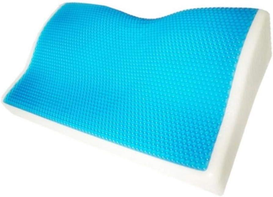 Llxxx Almohada-Espuma de Memoria Gel Cool Almohada Verano Hielo Anti ronquido Cuello Ortopédico Mariposa Silicona Sleep Pillow Cushion