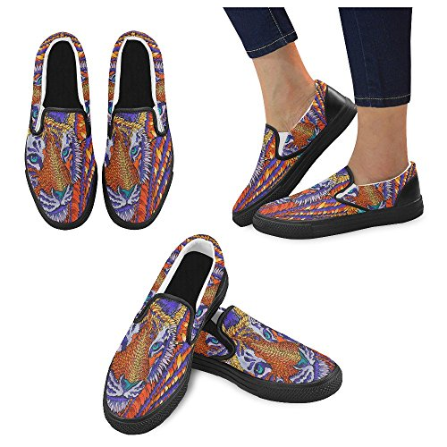 Unik Debora Anpassade Mode Kvinna Gymnastikskor Ovanliga Loafers Slip-on Tygskor Multicoloured5