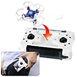 SBEGO Explorers FQ777-124 Pocket Drone 4CH 6Axis Quadcopter Switchable Controller Headless Mode One Key Return 3D Roll RTF (Blue)
