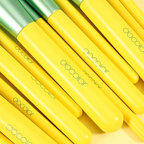 Docolor Makeup Brushes, 13 Pcs Lemon Makeup Brush Set Premium Synthetic Goat Foundation Eye Shadows Blending Face Powder…