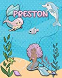 Handwriting Practice 120 Page Mermaid Pals Book Preston: Primary Grades Handwriting Book K-2
