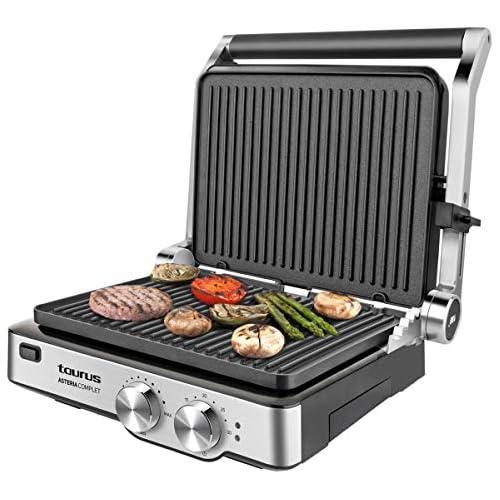 chollos oferta descuentos barato Taurus Asteria Complet Grill y plancha de asar 2000 W acero inoxidable