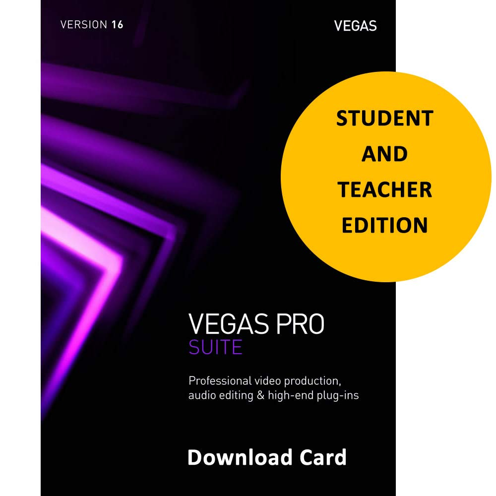 MAGIX Vegas Pro Suite 16 Academic for Students & Teachers (Download Card) - Professional video & audio editing, disc authoring & high-end plug-ins by Genesis-MGX