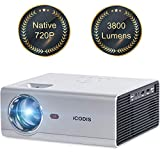 iCODIS T400 Mini Projector 3800 Lumens, 720P Native Resolution, Full HD 1080P Supported - Best Reviews Guide