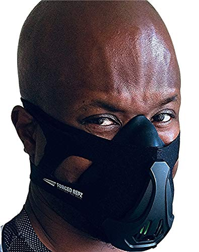 Forced Repz Official 2019 Training mask 3.0, Altitude Training Mask for Workout, Running, Cycling, MMA and Soccer, simulates high Altitude for Superior Cardio Fitness.