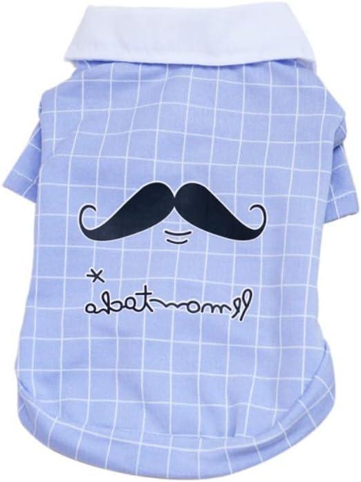 Handfly Camisas para Perros Camisa a Cuadros del Perro Cachorro con corbatín Camiseta Polo para Mascotas Ropa para Perros para Perros pequeños Camisas de Verano: Amazon.es: Productos para mascotas