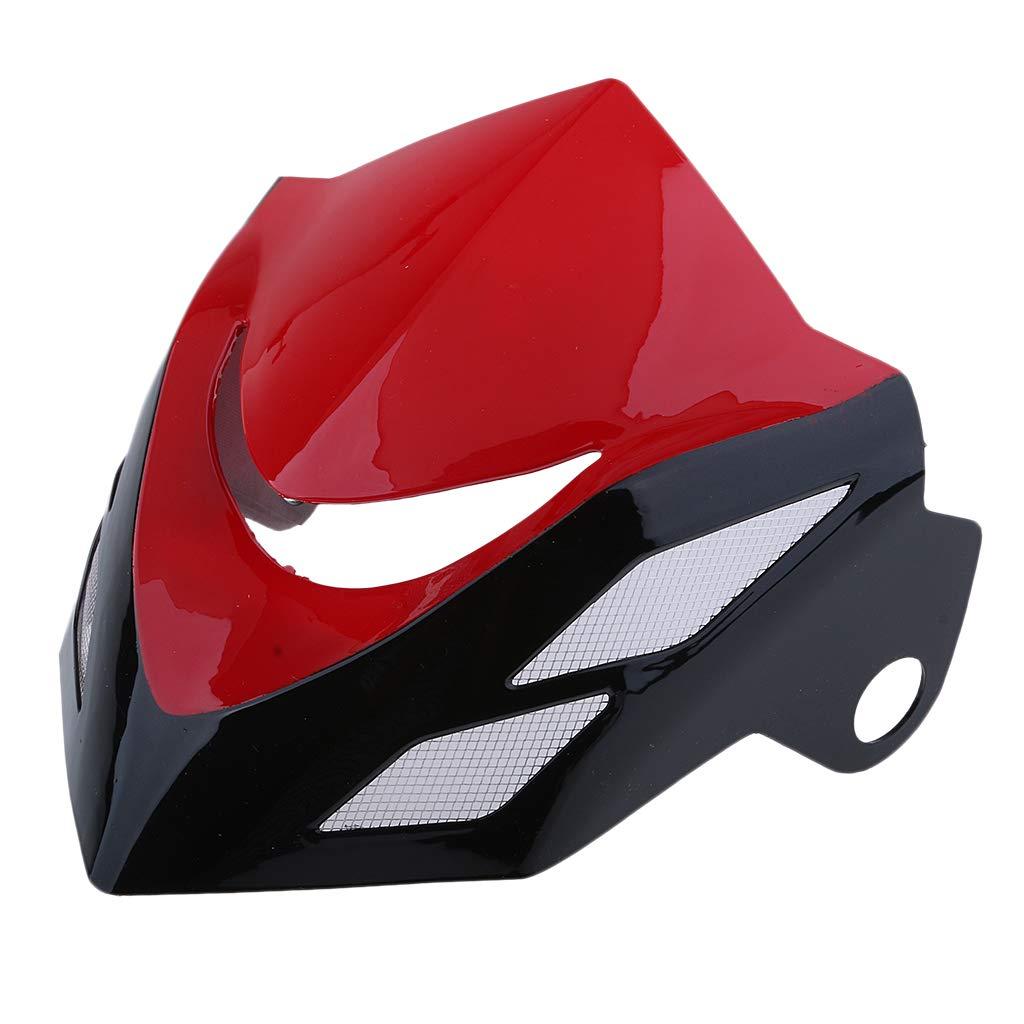 White MagiDeal Headlight Fairing Cover Wind Screen Windshield for Honda Grom MSX125 2014 2015