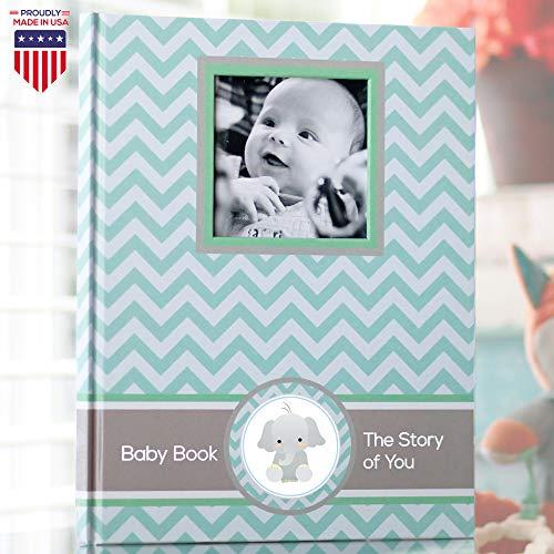 (Baby Memory Book - Newborn Journal - Baby First Year Book Album - Baby Shower Book Gift - Baby Keepsake Milestone Memory Journal - First Year Newborn Baby Boy Girl Book - Baby Record Scrapbook Unisex)