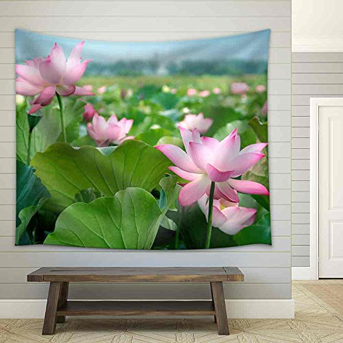 Lotus Flower Blossom Fabric Wall