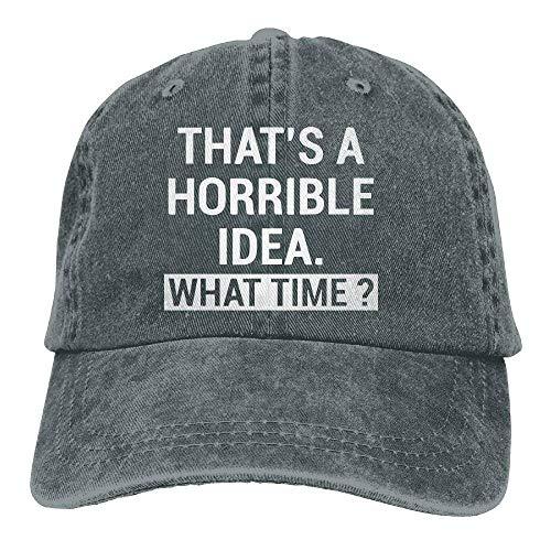 Adjustable Denim Women béisbol A Hat Gorras Cap Horrible Idea What Dad Baseball Sports Time That's Cap jinhua19 Cxqw6Pt5