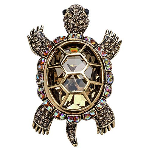 (Szxc Jewelry Women's Crystal Big Turtle Pin Brooch Pendant)