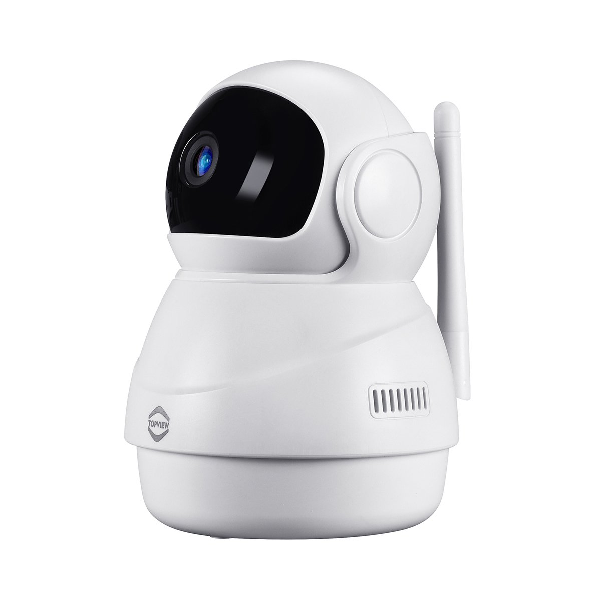 TopView Wireless Remote IP Camera HD 1080P Pan Tilt Zoom Indoor Security Surveillance Cameras for Home/Baby/Nanny/Pet/Office Two-Way Audio Night Vision iOS Android App (White)