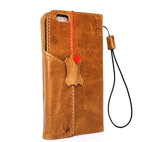 Original Vintage Leder Handmade Safe für Apple iPhone 6S Wallet Lite 6 S Retro AU