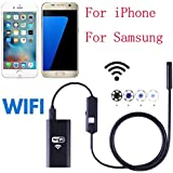 8mm Wireless WIFI Camera Endoscope For iPhone, Ximandi HD 720P Waterproof Smart WIFI Camera Inspection Endoscope For iPhone Android(1.5M) (1.5M)